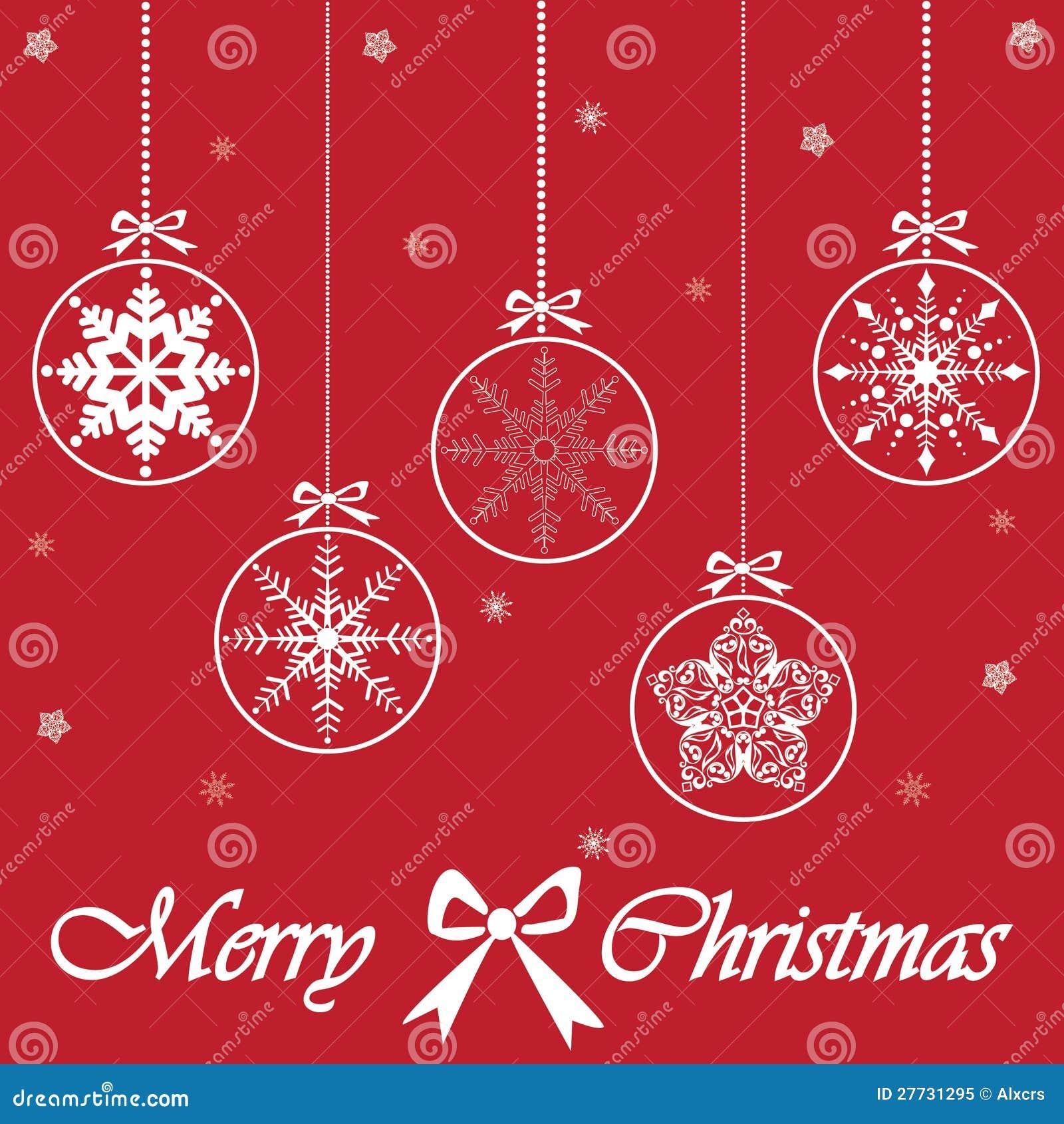 Karte der frohen Weihnachten, Vektor