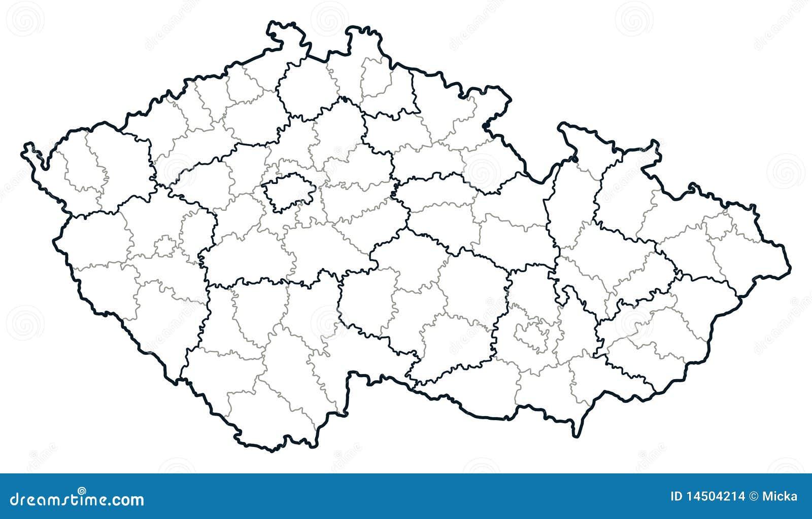 Karte der Tschechischen Republik vektor