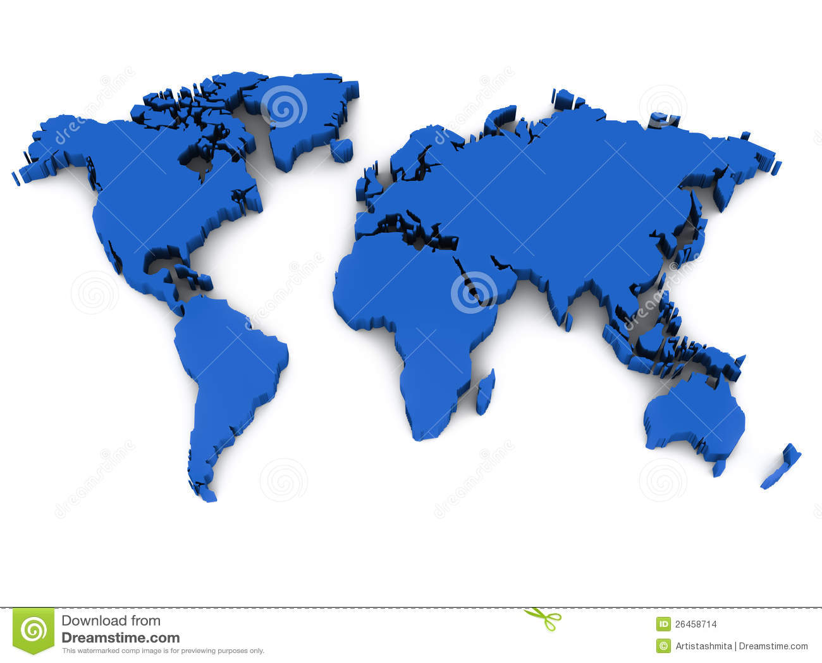 Karte der Welt 3d