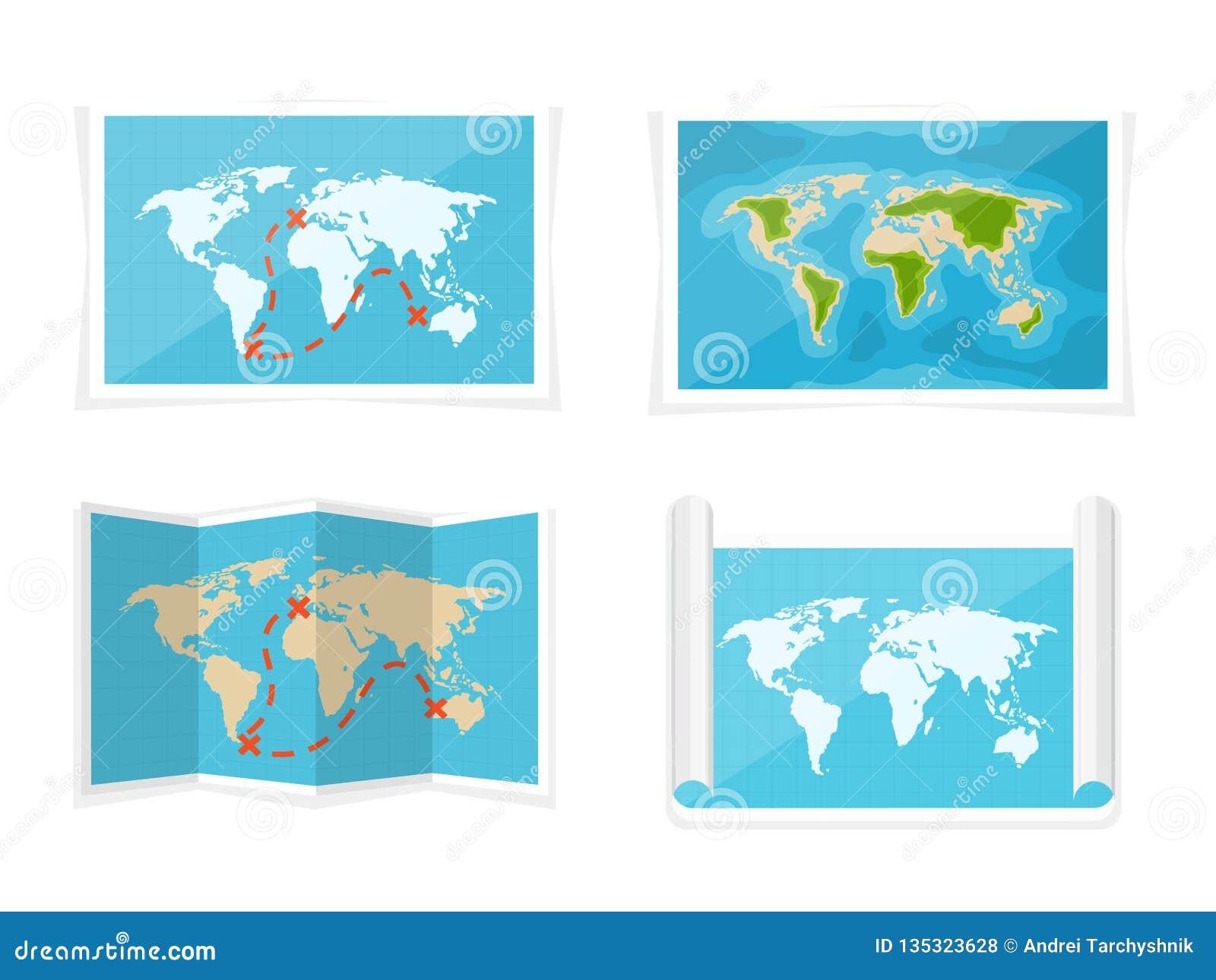 Karte der Welt Auch im corel abgehobenen Betrag nearsighted Afrika die Antarktis Australien Eurasien Nordamerika