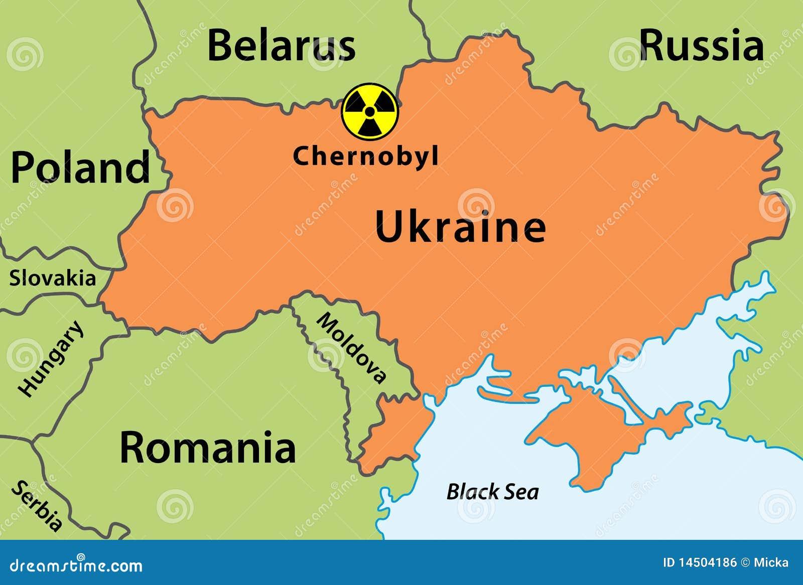 Karte Des Chernobyl Unfalles Stock Abbildung Illustration Von