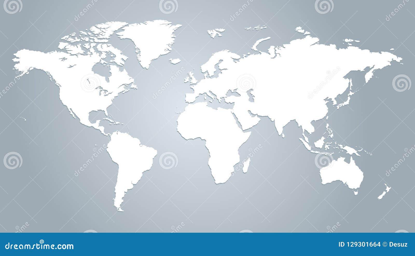 Karte des Weltvektors
