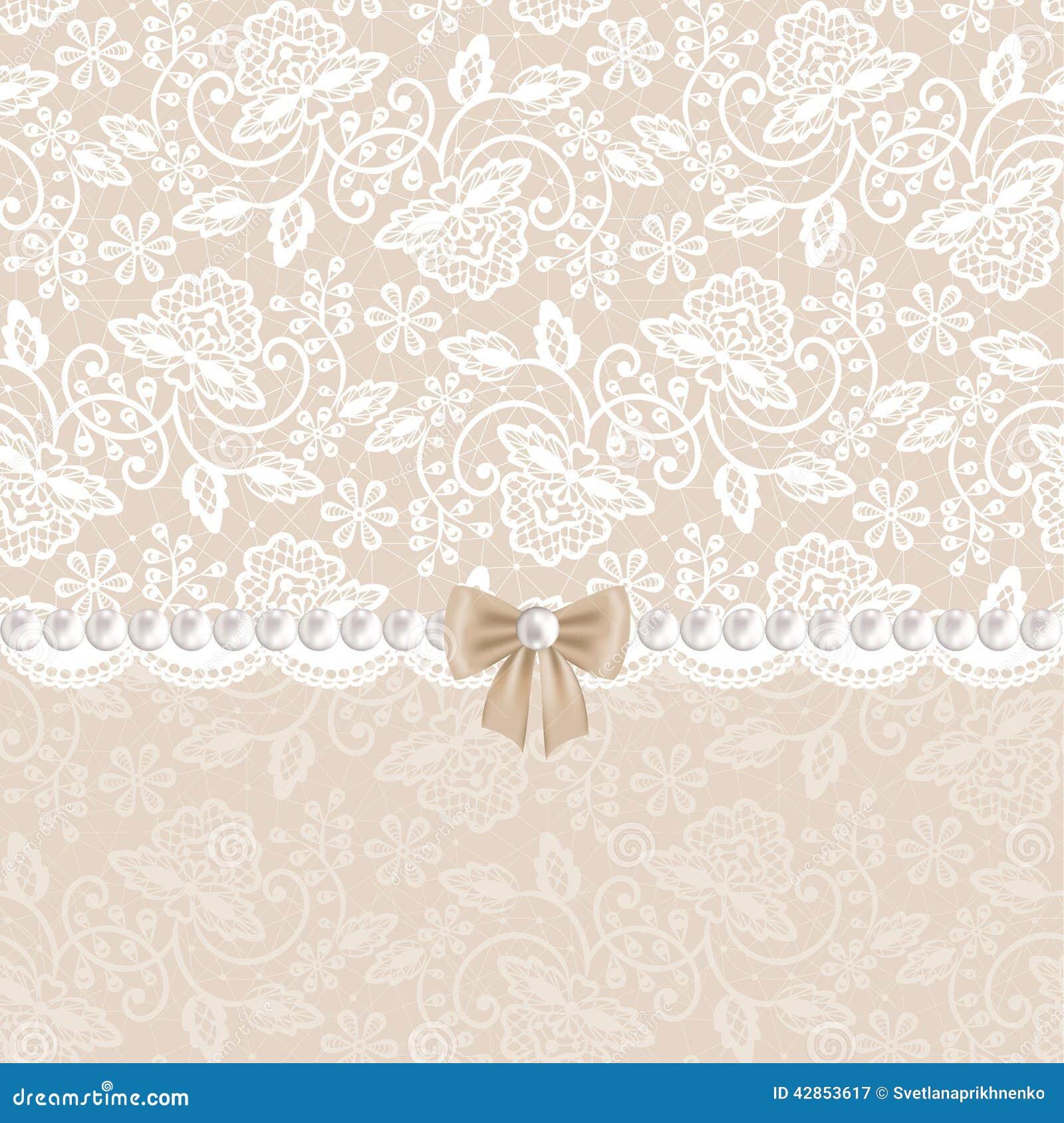 karte mit wei er spitze vektor abbildung bild 42853617. Black Bedroom Furniture Sets. Home Design Ideas