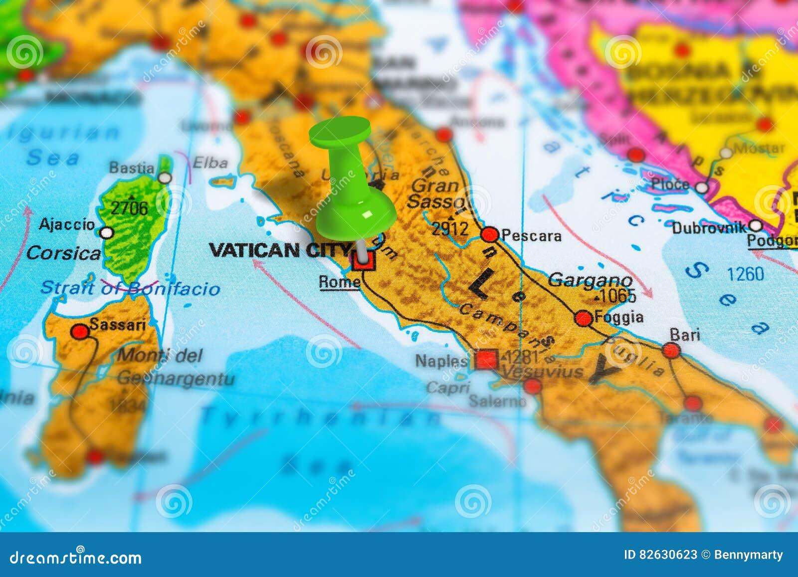 Karte Roms Italien Stockbild Bild Von Cartography Ernstlich