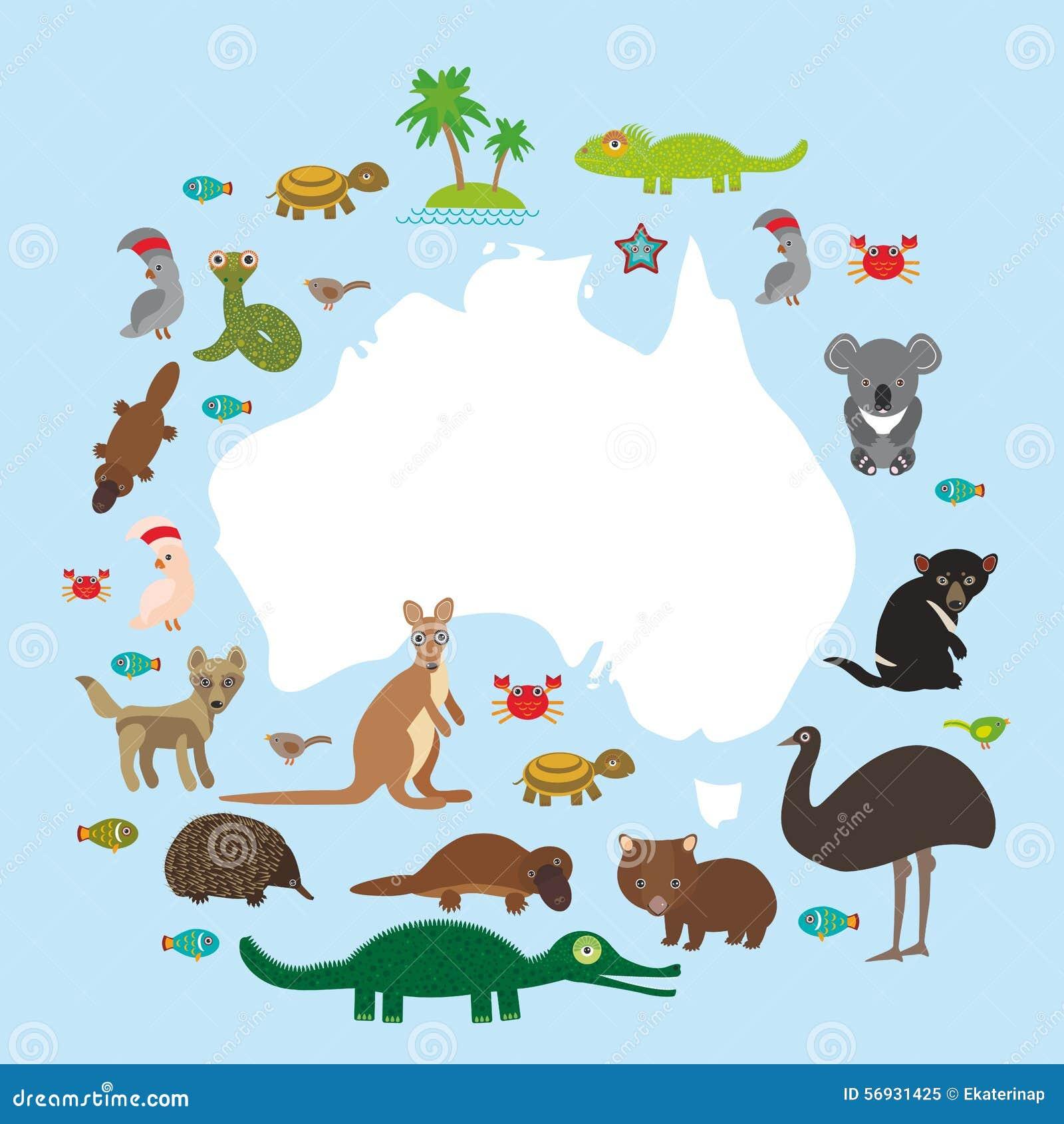 Karte von Australien E vektor abbildung. Illustration von zeichen ...