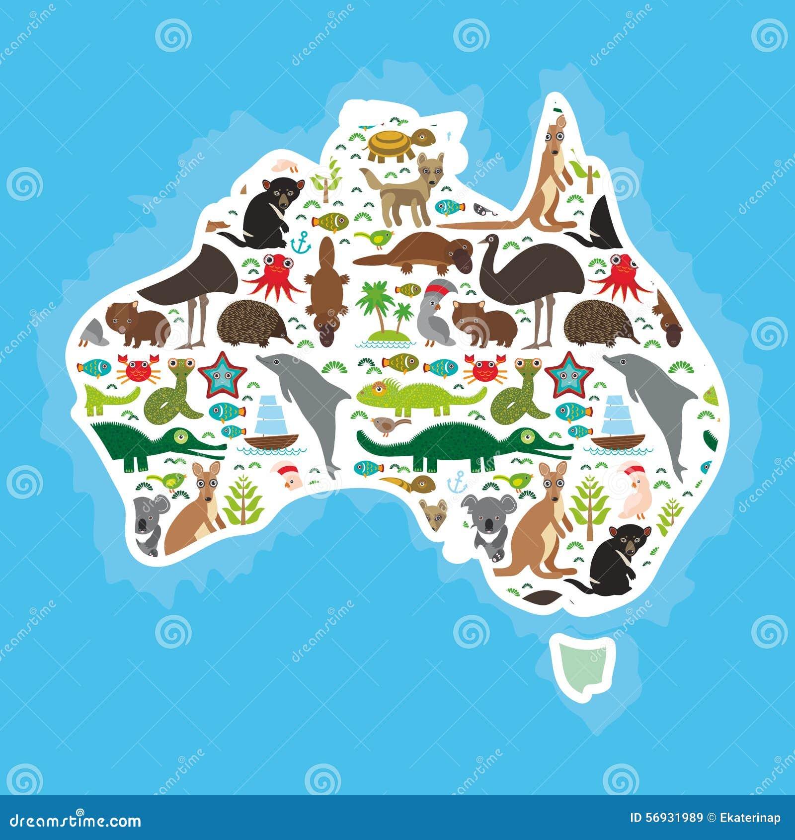Karte von Australien E vektor abbildung. Illustration von abbildung ...