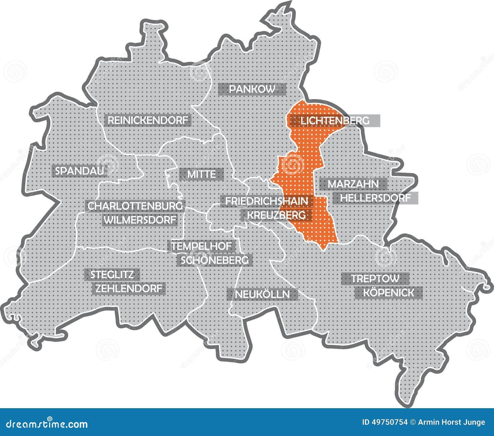 Ubersicht Uber Die 12 Bezirke Von Berlin Nach Der Bezirksgebietsreform