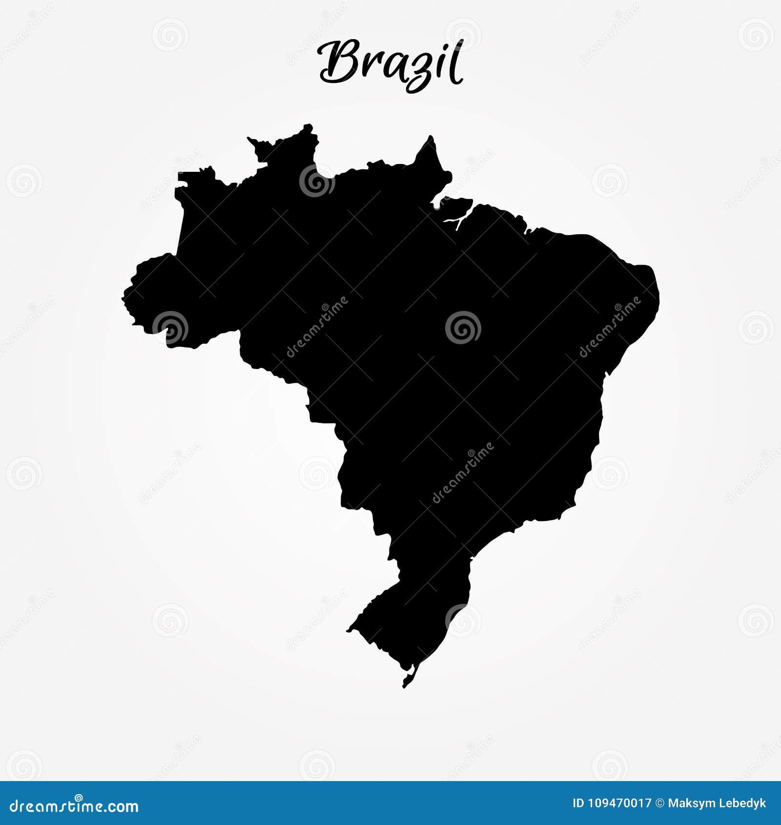 Brasilien Karte Welt.Karte Von Brasilien Stock Abbildung Illustration Von Kontinent