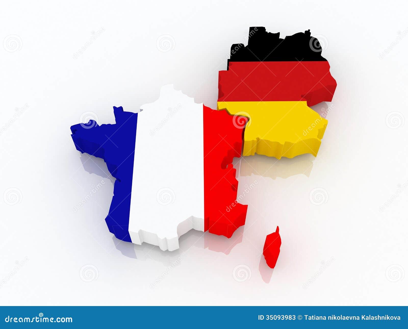 Deutschland Frankreich Karte.Karte Von Frankreich Und Von Deutschland Stock Abbildung