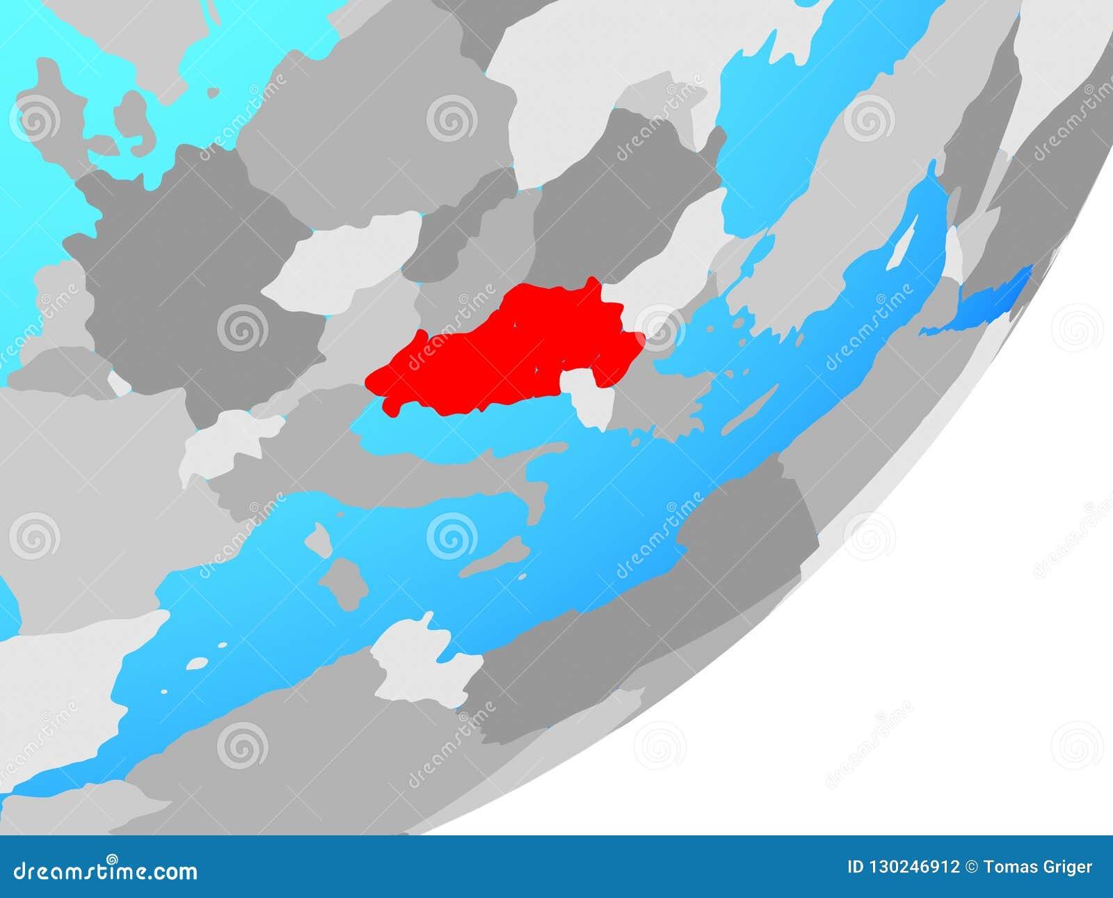 Jugoslawien Karte.Karte Von Jugoslawien Auf Kugel Stock Abbildung Illustration Von