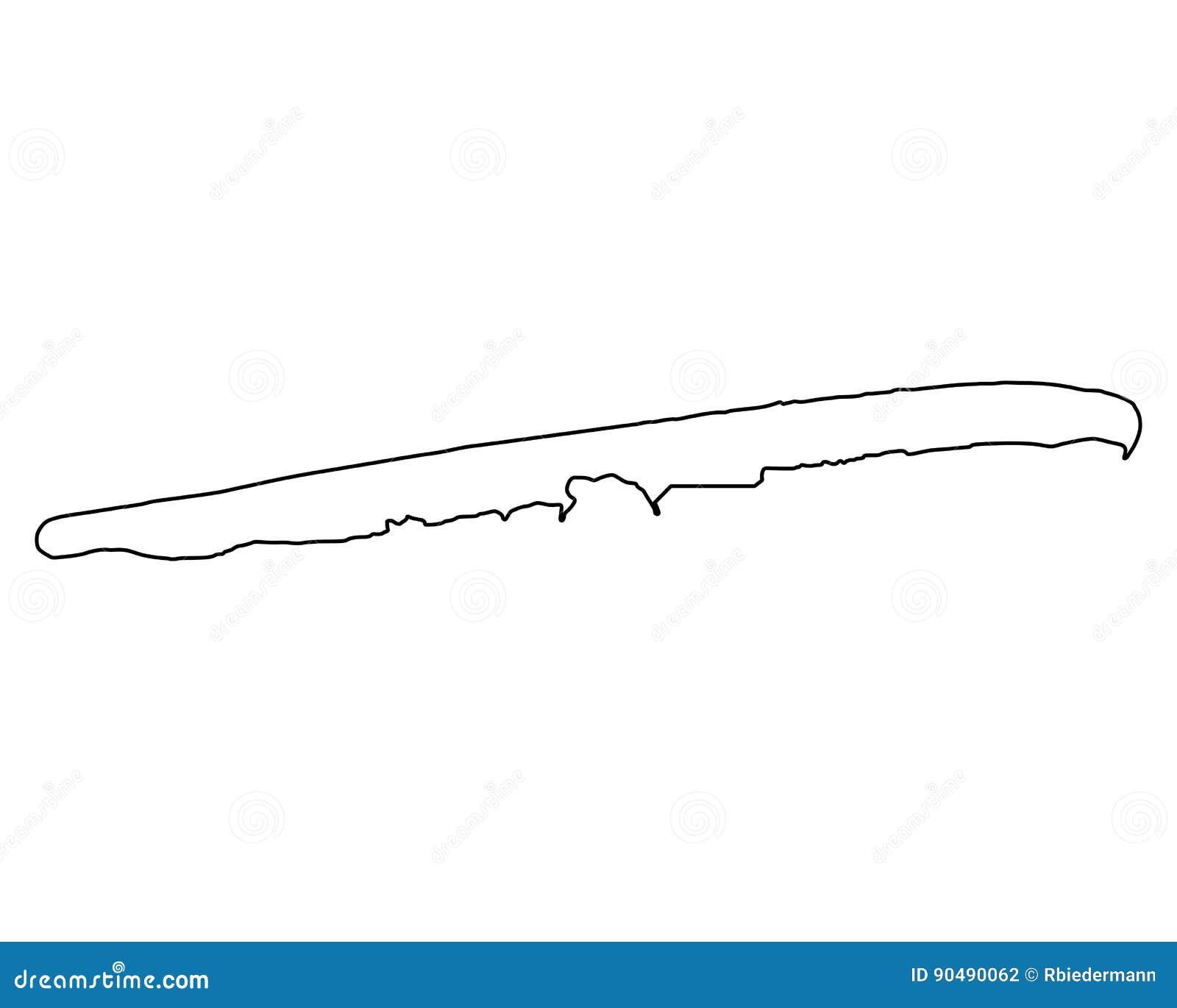 Juist Karte.Karte Von Juist Vektor Abbildung Illustration Von Insel 90490062