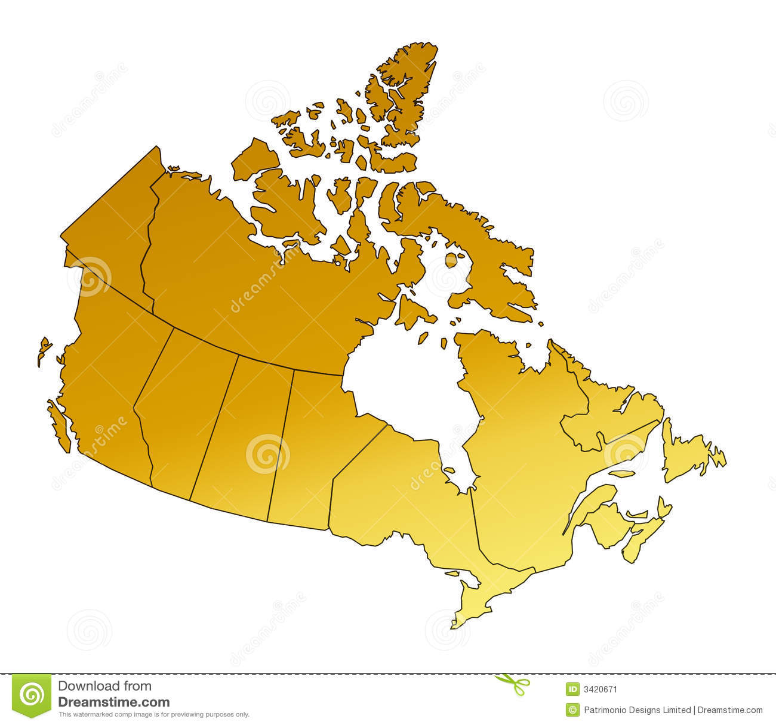 Vektorkunst der karte von kanada