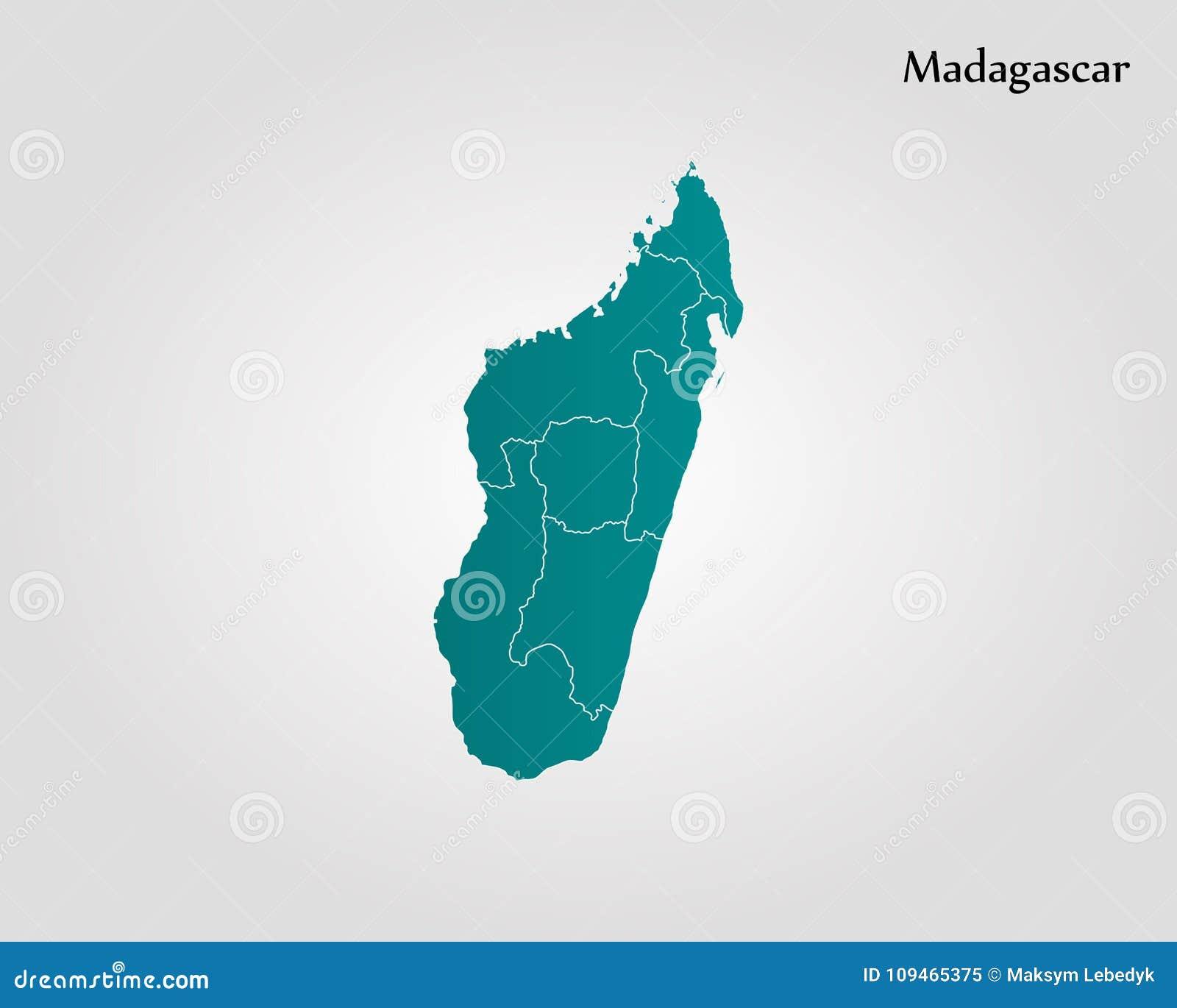 Madagaskar Karte.Karte Von Madagaskar Stock Abbildung Illustration Von