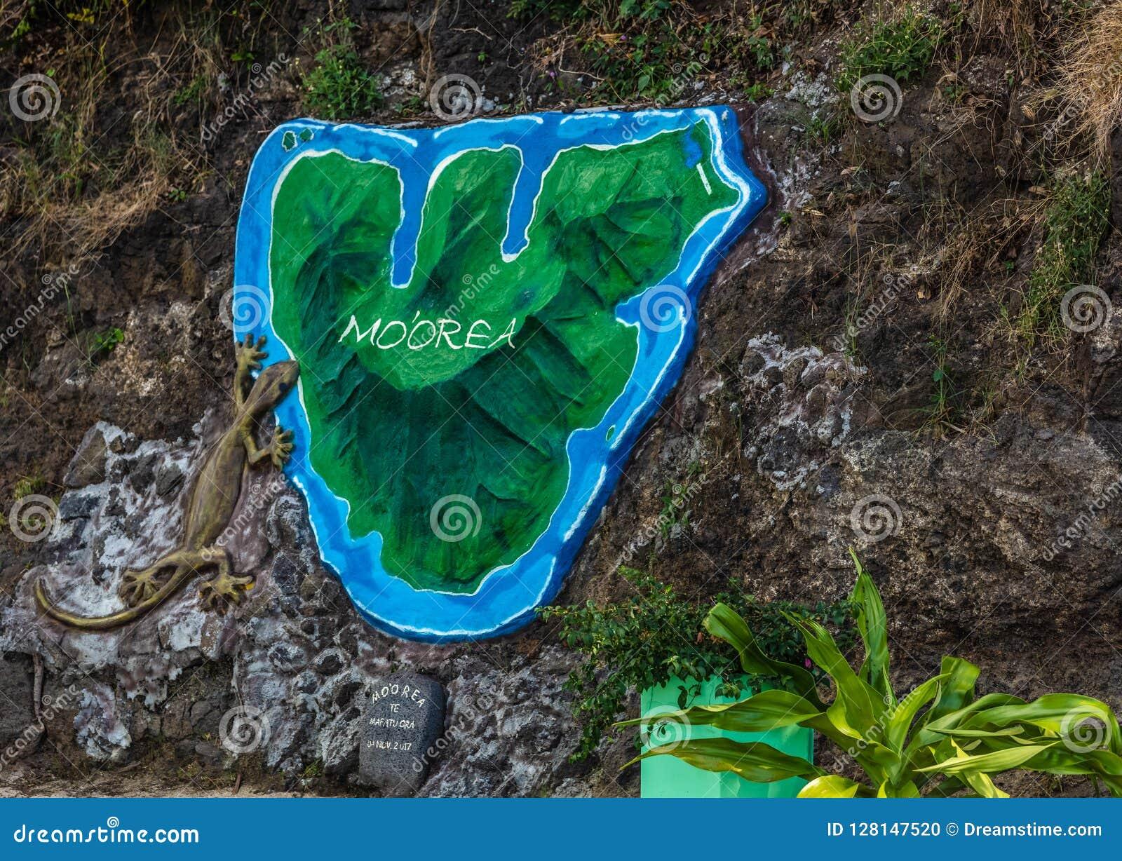 Karte von moorea