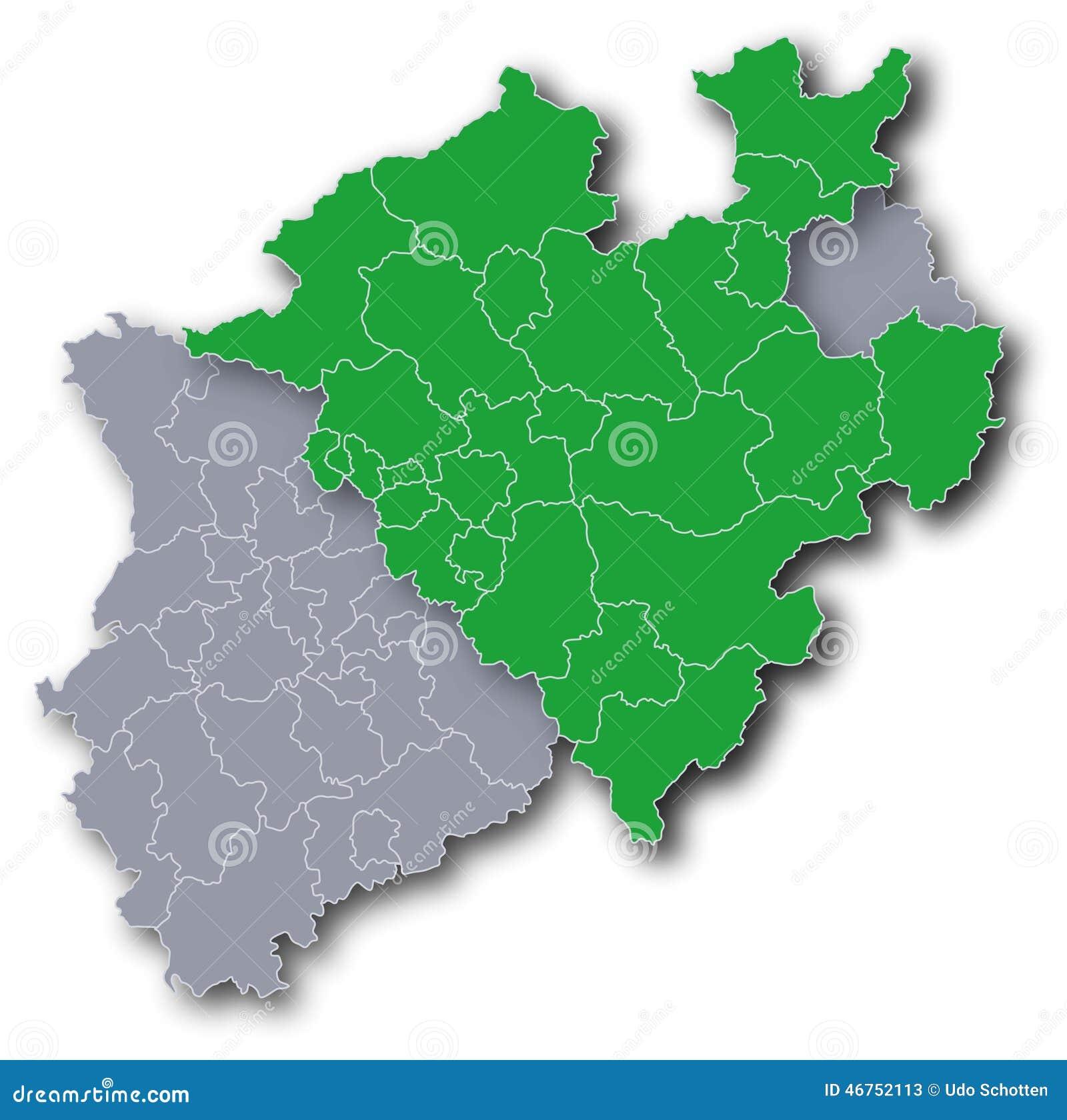 Karte Von Nrw.Karte Von Nrw Und Von Westfalen Vektor Abbildung Illustration Von