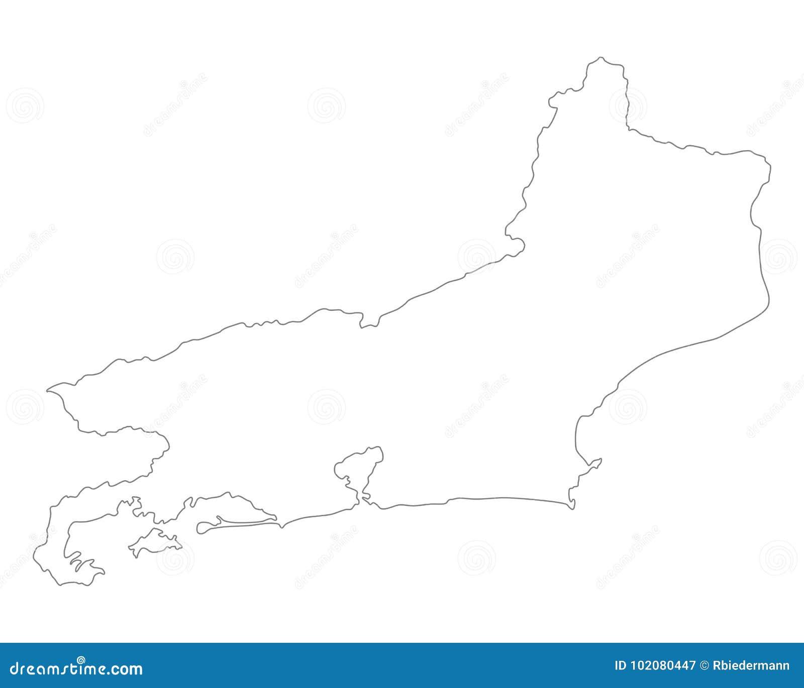 Rio De Janeiro Karte.Karte Von Rio De Janeiro Vektor Abbildung Illustration Von
