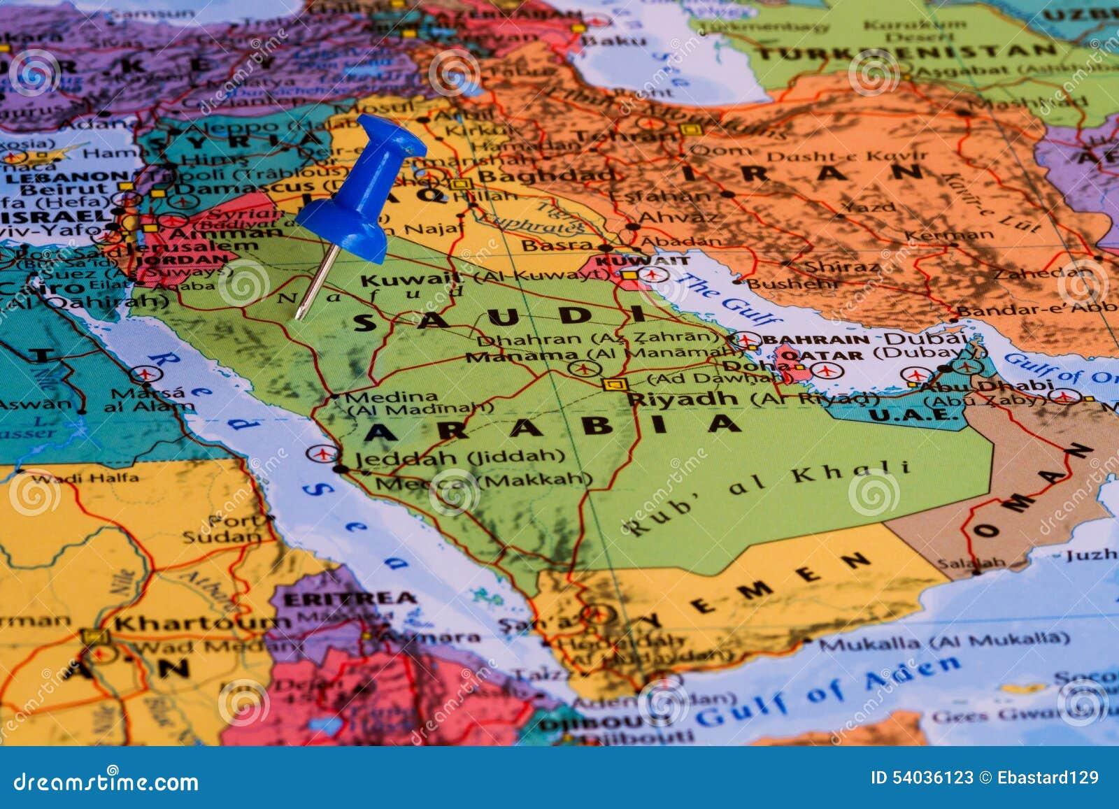 Karte von Saudi-Arabien