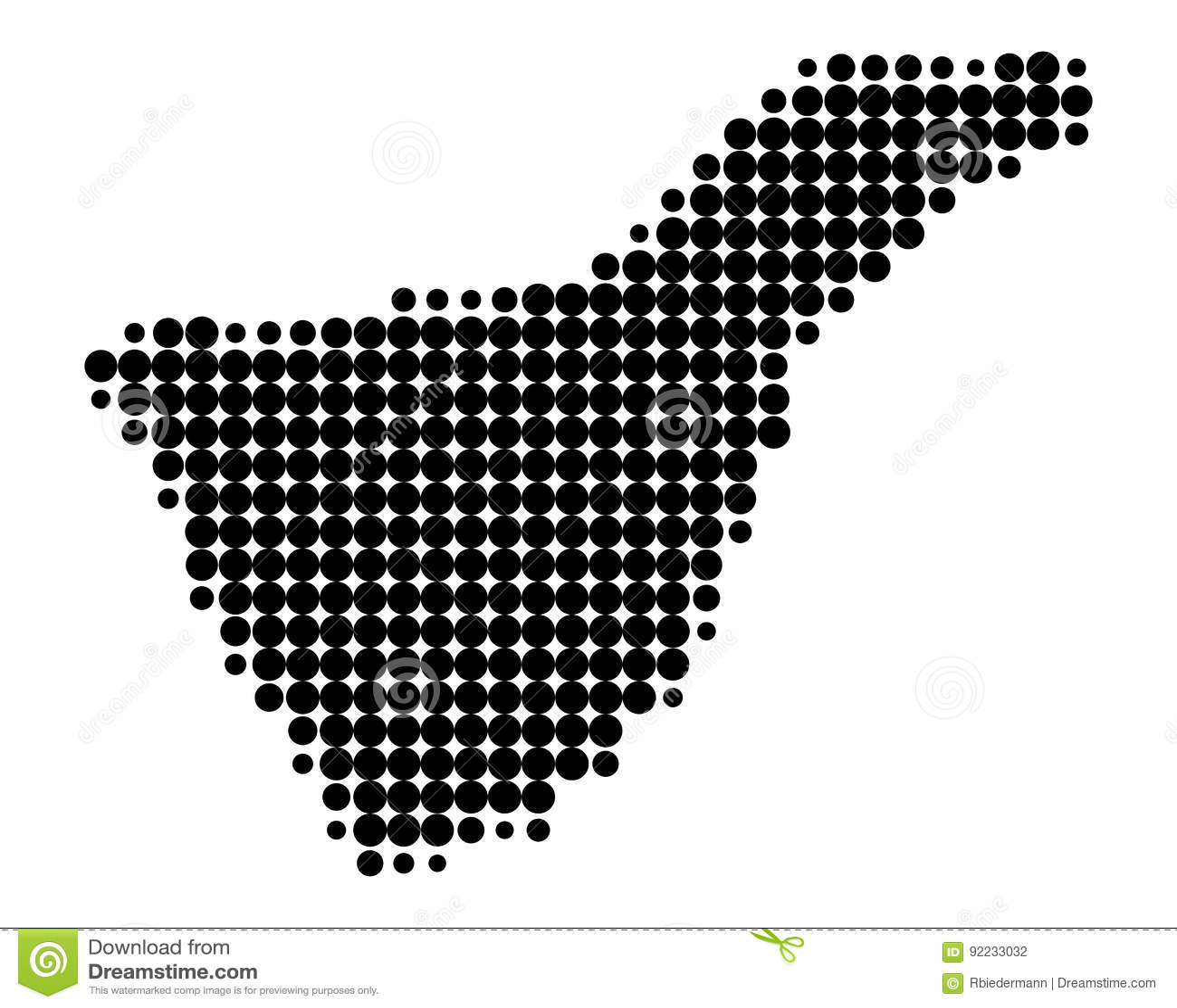 Teneriffa Karte Europa.Karte Von Teneriffa Vektor Abbildung Illustration Von