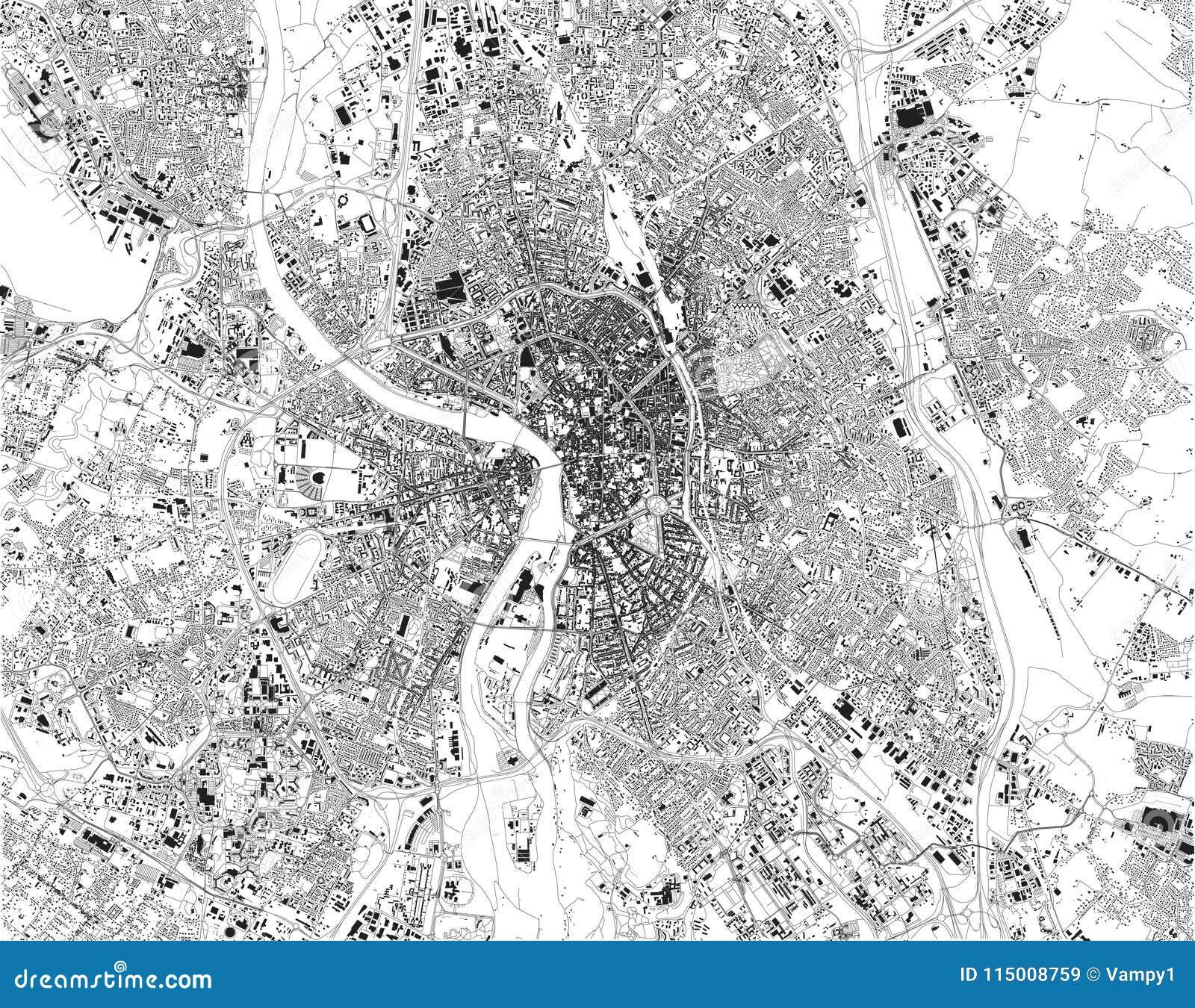Toulouse Karte.Karte Von Toulouse Die Hauptstadt Der Französischen Abteilung Des