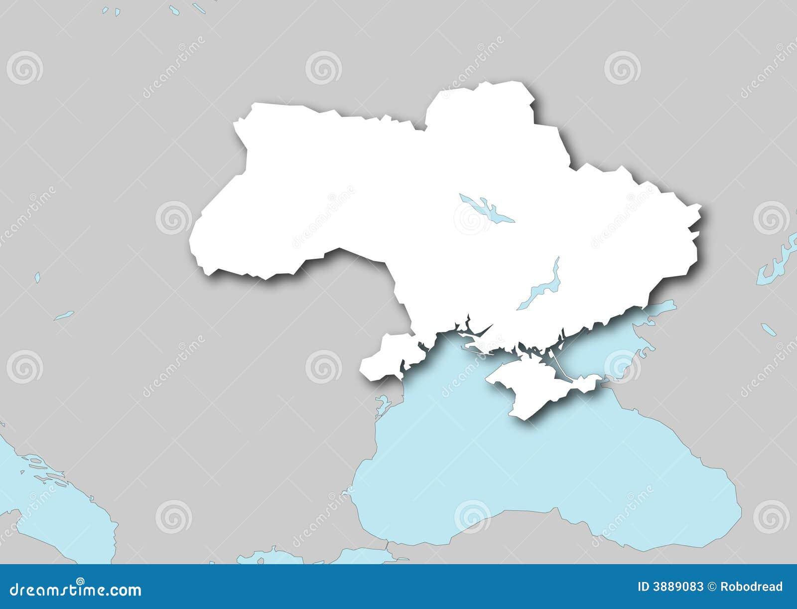 Ukraine stilisiert karte des computers hergestellt