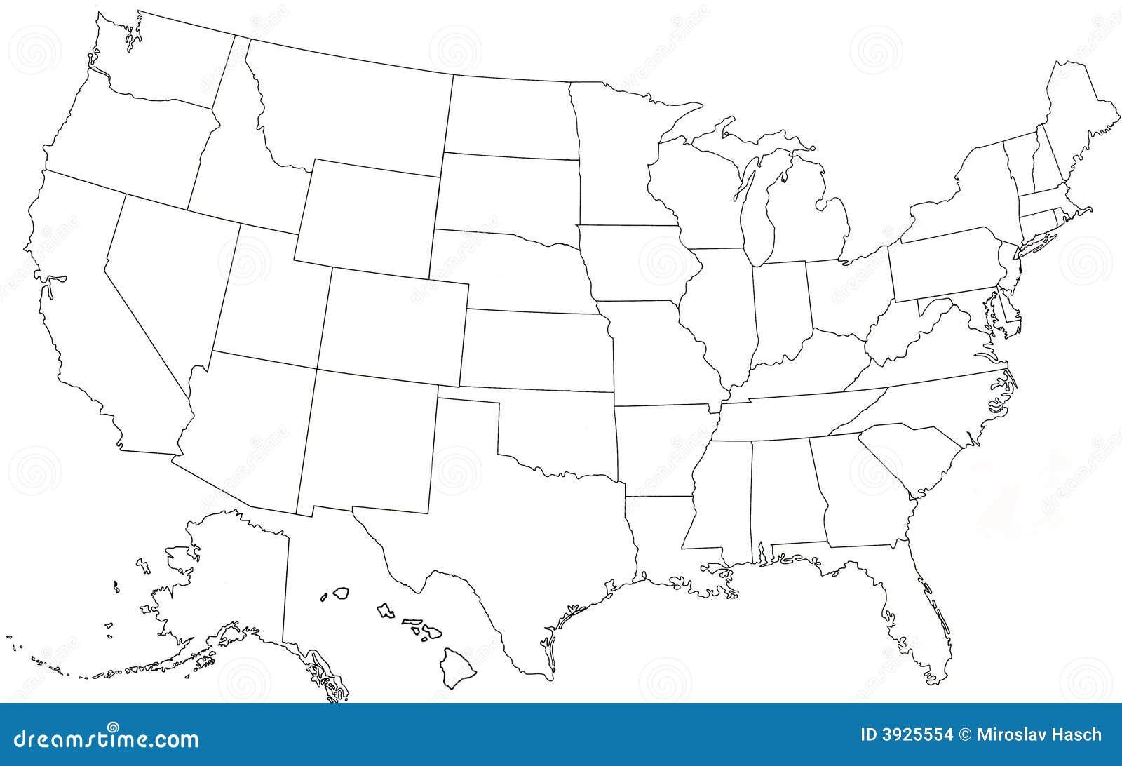 Usa Karte Ohne Staaten.Usa Staaten Karte Ohne Namen Creactie