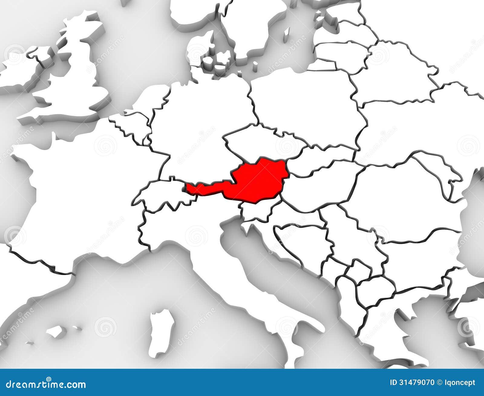 3d Karte Osterreich.Karten Europa Kontinent Der Osterreich Land Zusammenfassungs