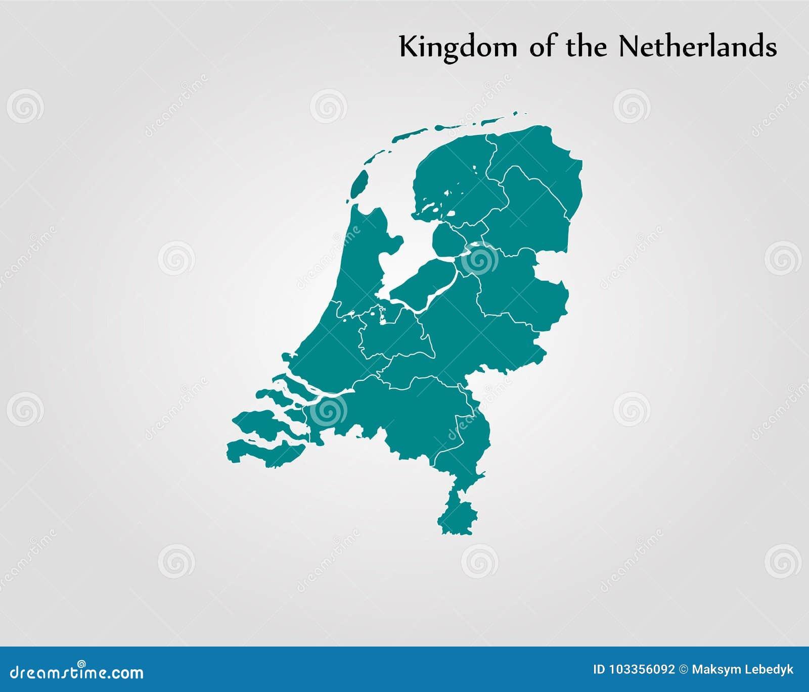 Niederlande Karte Welt.Karten Konigreich Der Niederlande Stock Abbildung