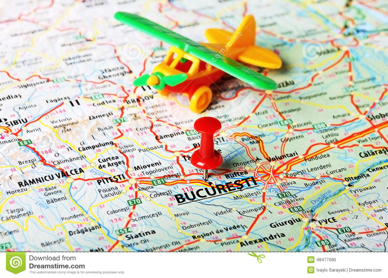 Kartenflughafen Bucuresti, Rumänien