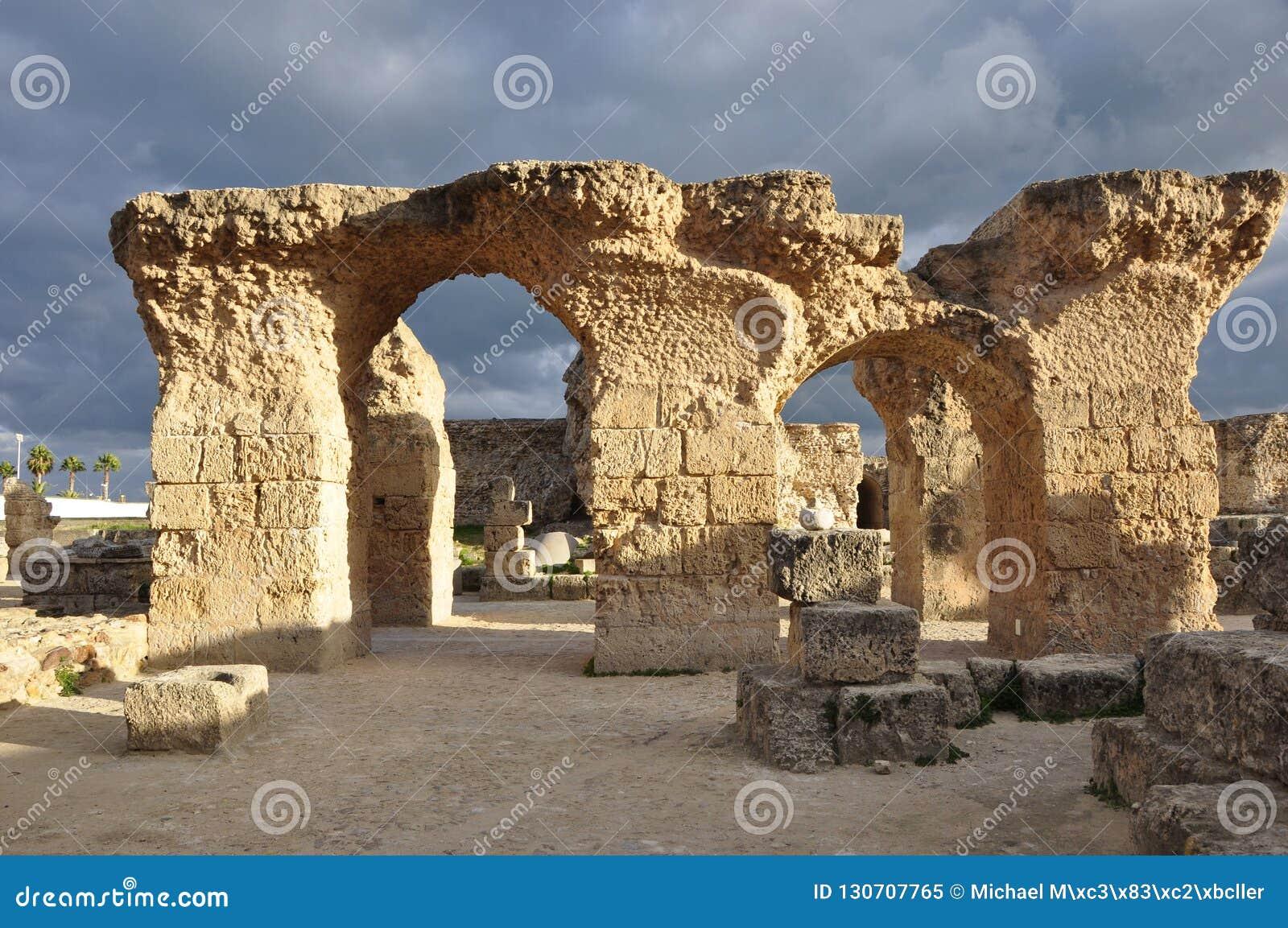 Karthago Unesco-arv Roman Ruins och Haniballs Nekropole,