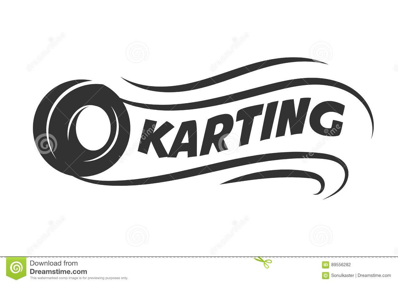 Karting Club Or Kart Races Motor Tire Vector Template Icon Stock