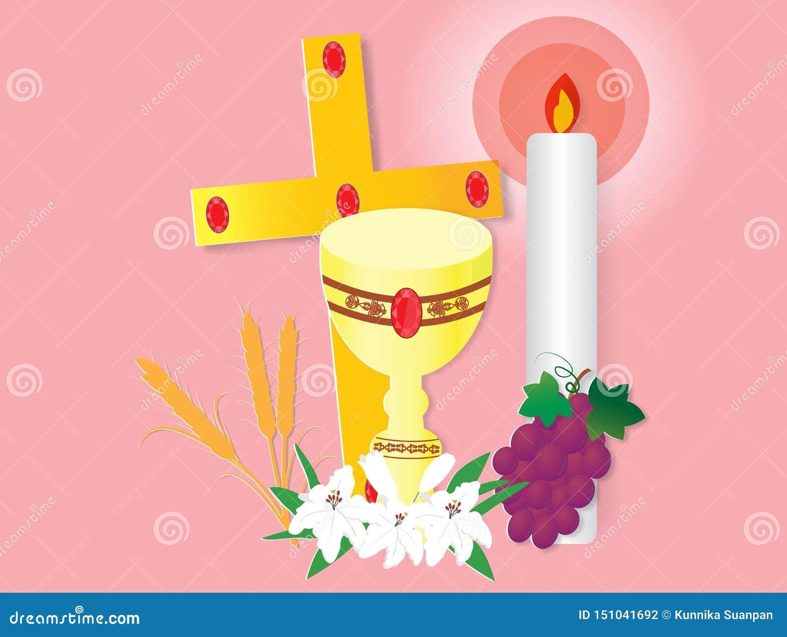 Kartka z pozdrowieniami z pierwszy communion