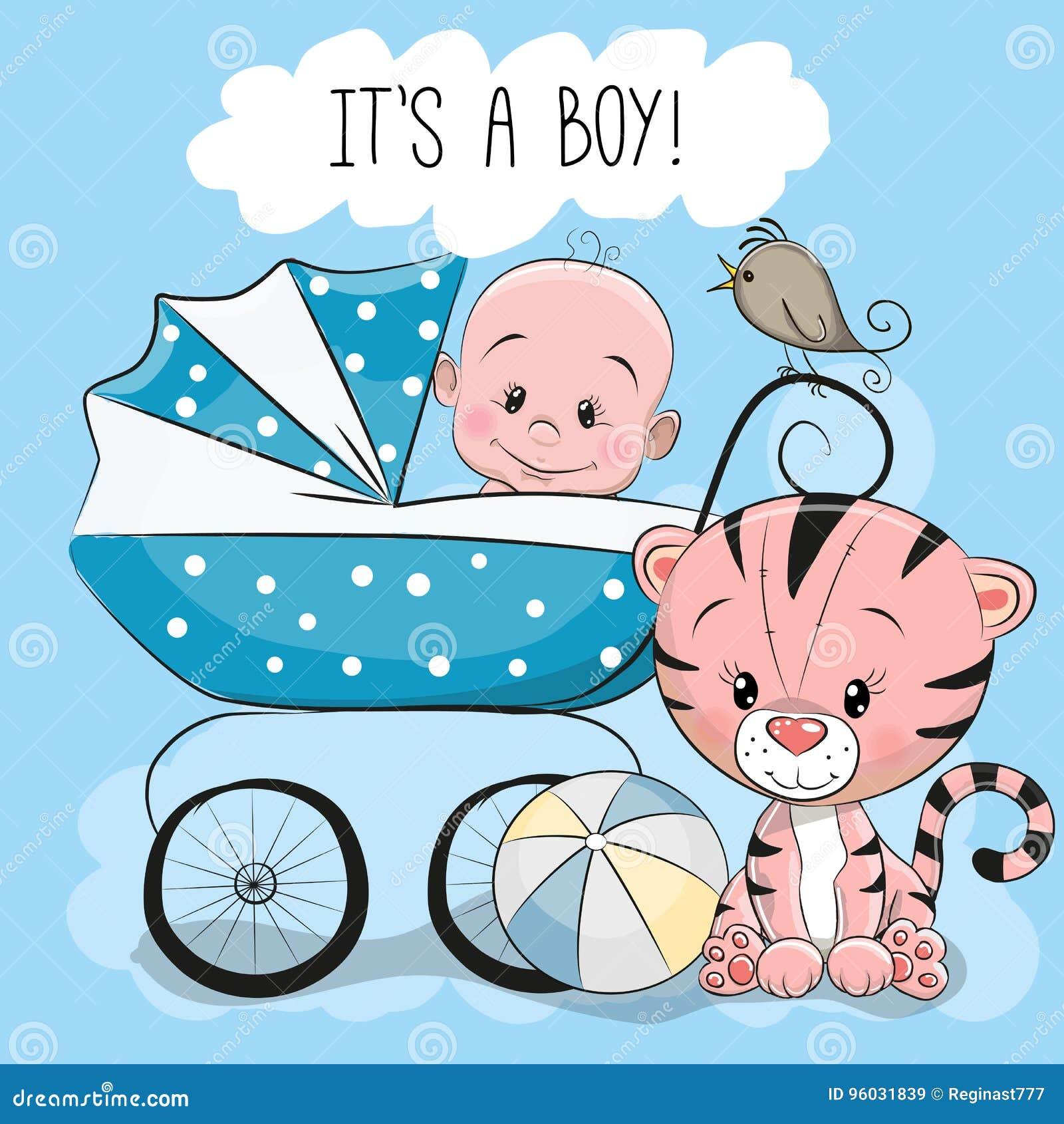 Kartka z pozdrowieniami swój chłopiec z dziecko frachtem