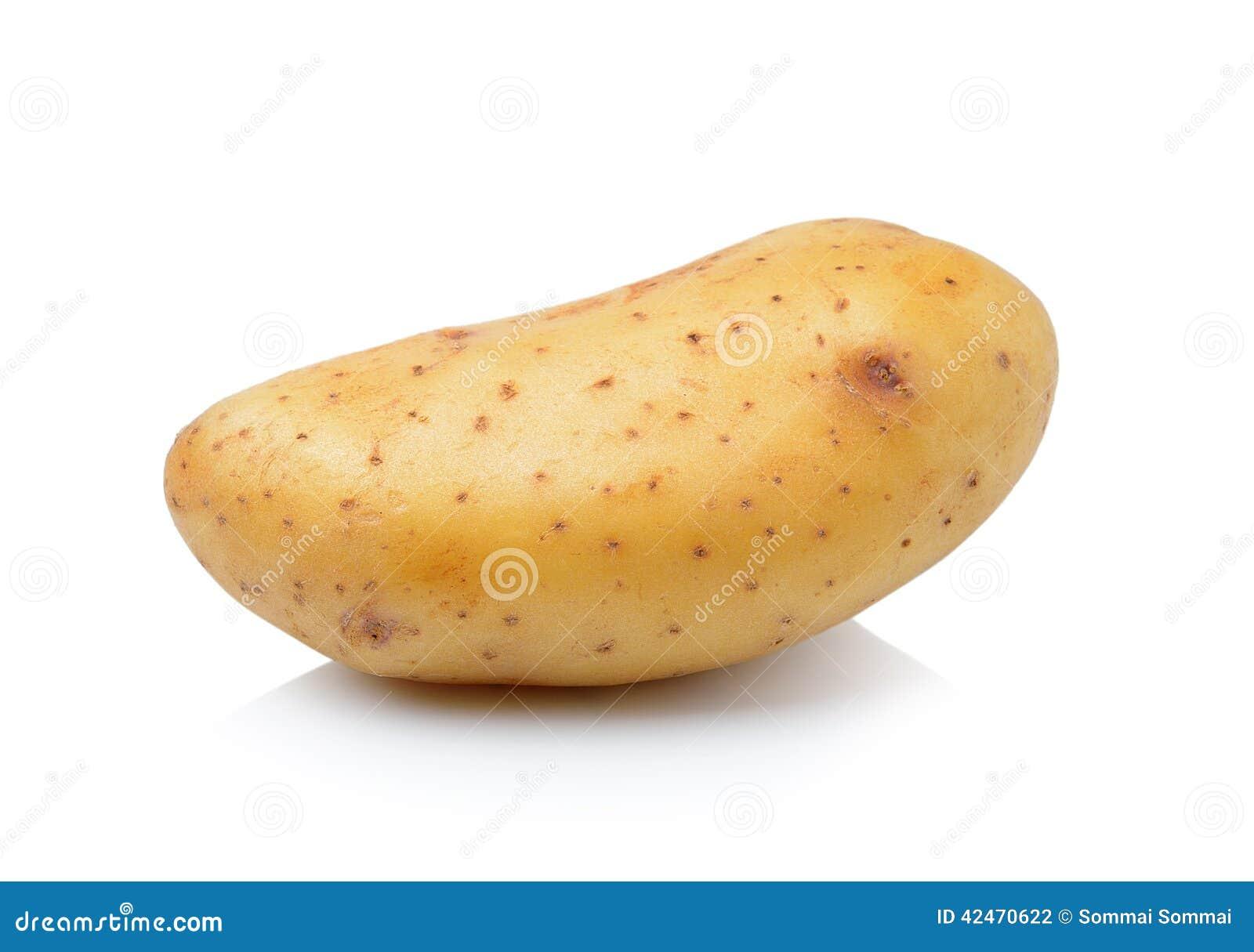 Kartoffel getrennt auf weißem Hintergrund