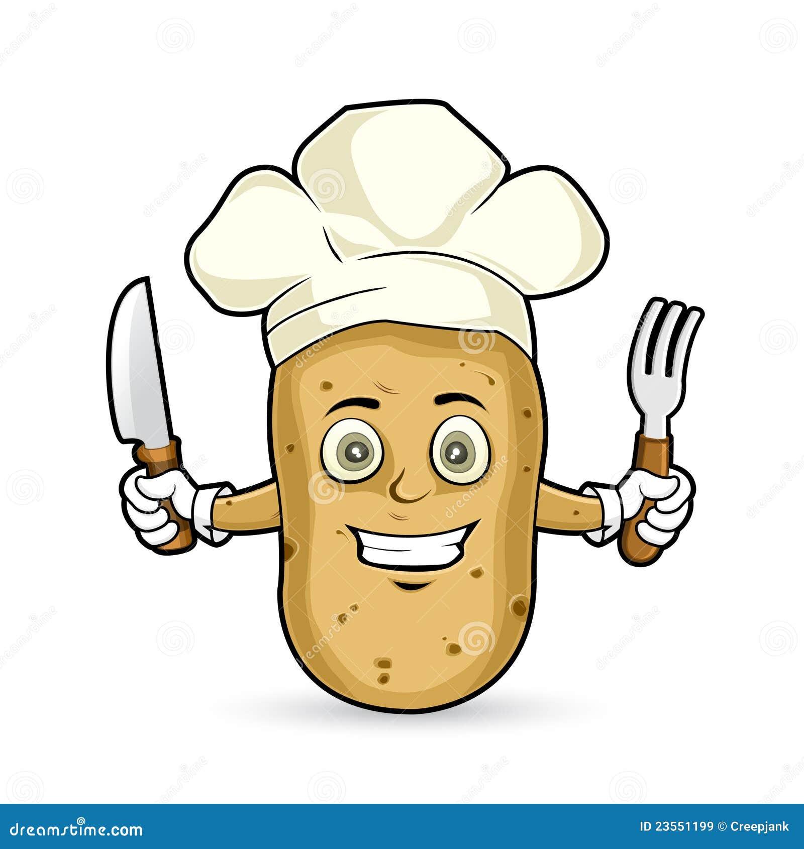 Kartoffel Bilder Kostenlos kartoffel glücklich stock abbildung illustration messer