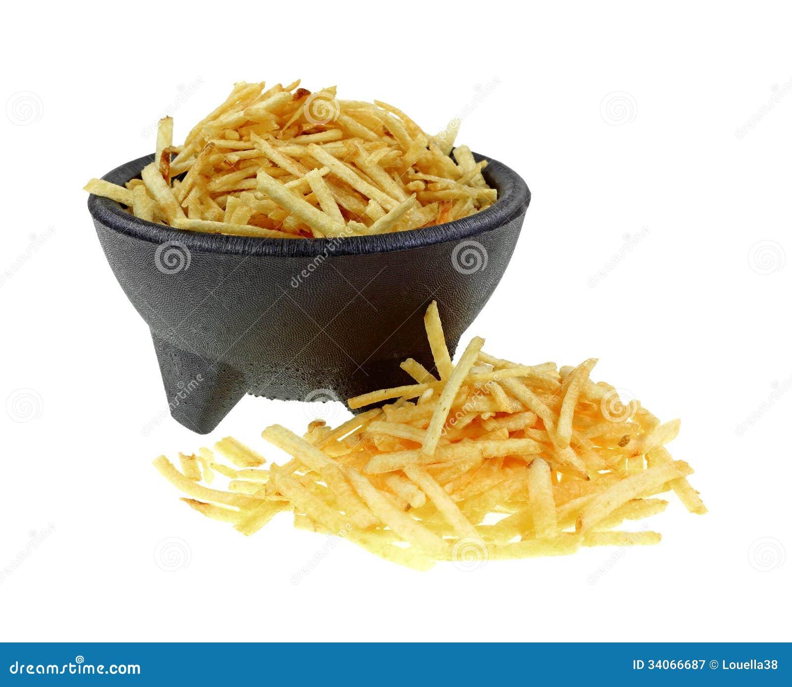 Kartoflani kije przody w pucharze i