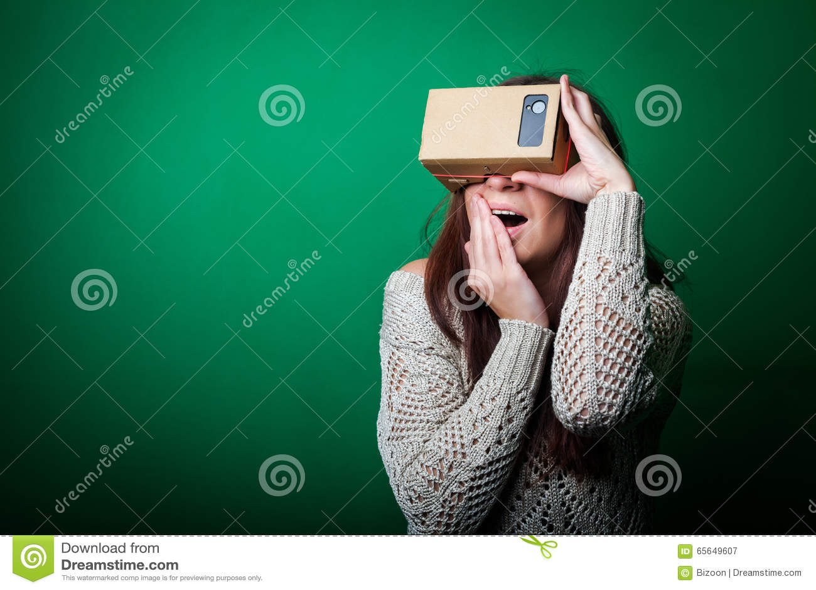 Karton virtuele werkelijkheid
