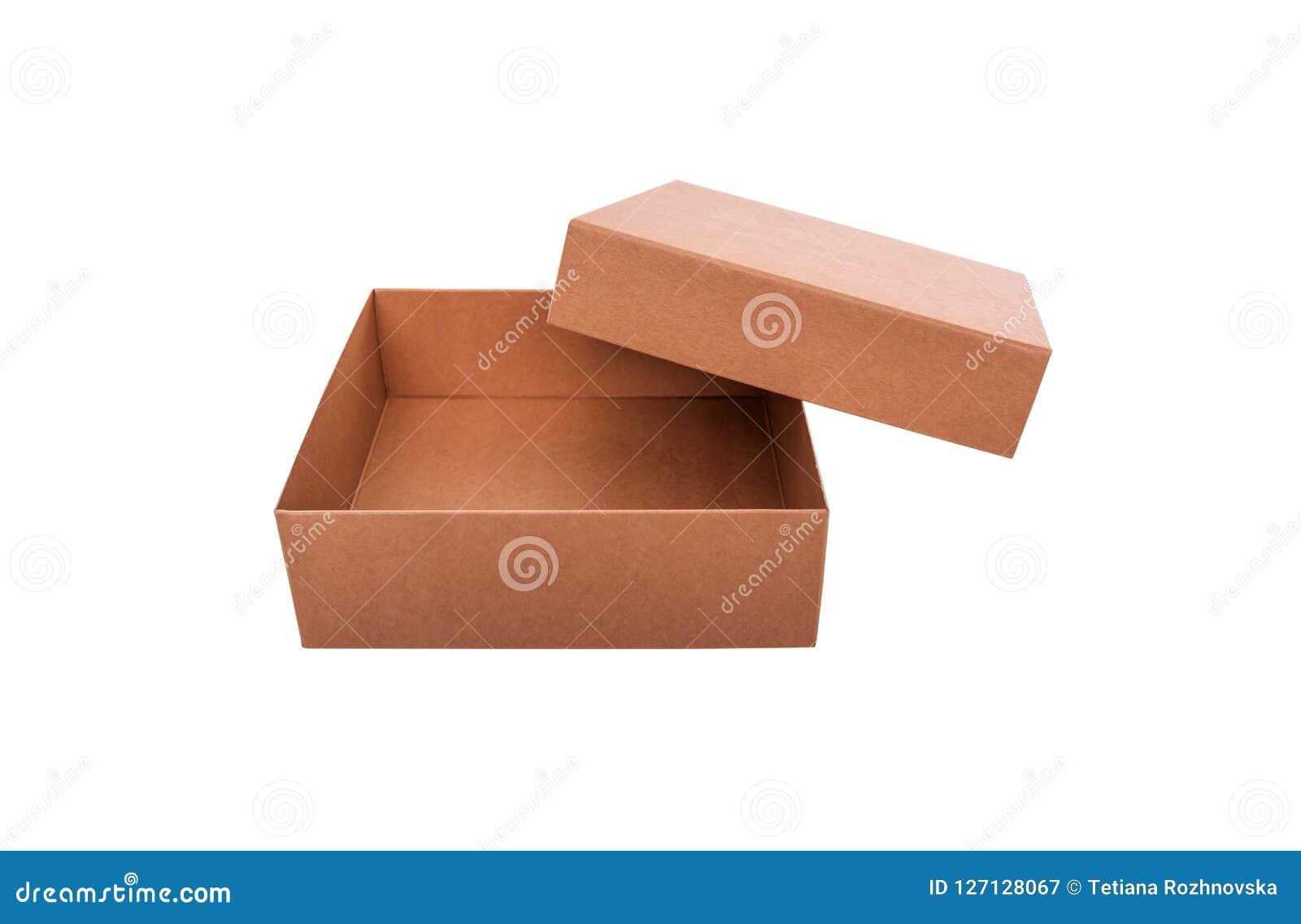 Kartondoos met een open deksel Close-up