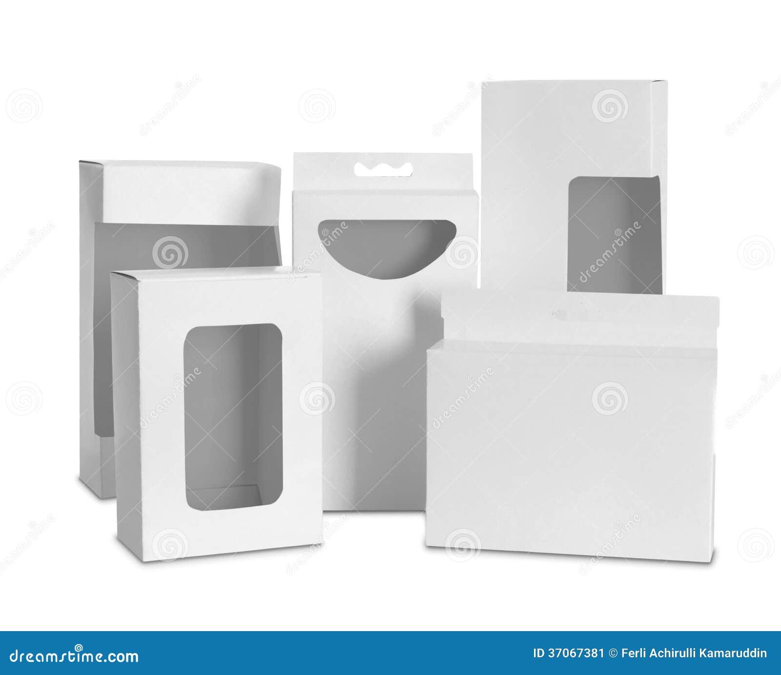 Kartong Med Ett Genomskinligt Plast- Fönster Fotografering för ...