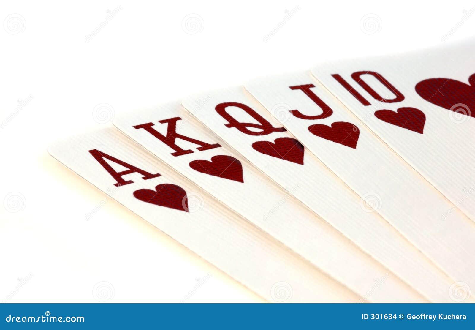 Karty grać textured white