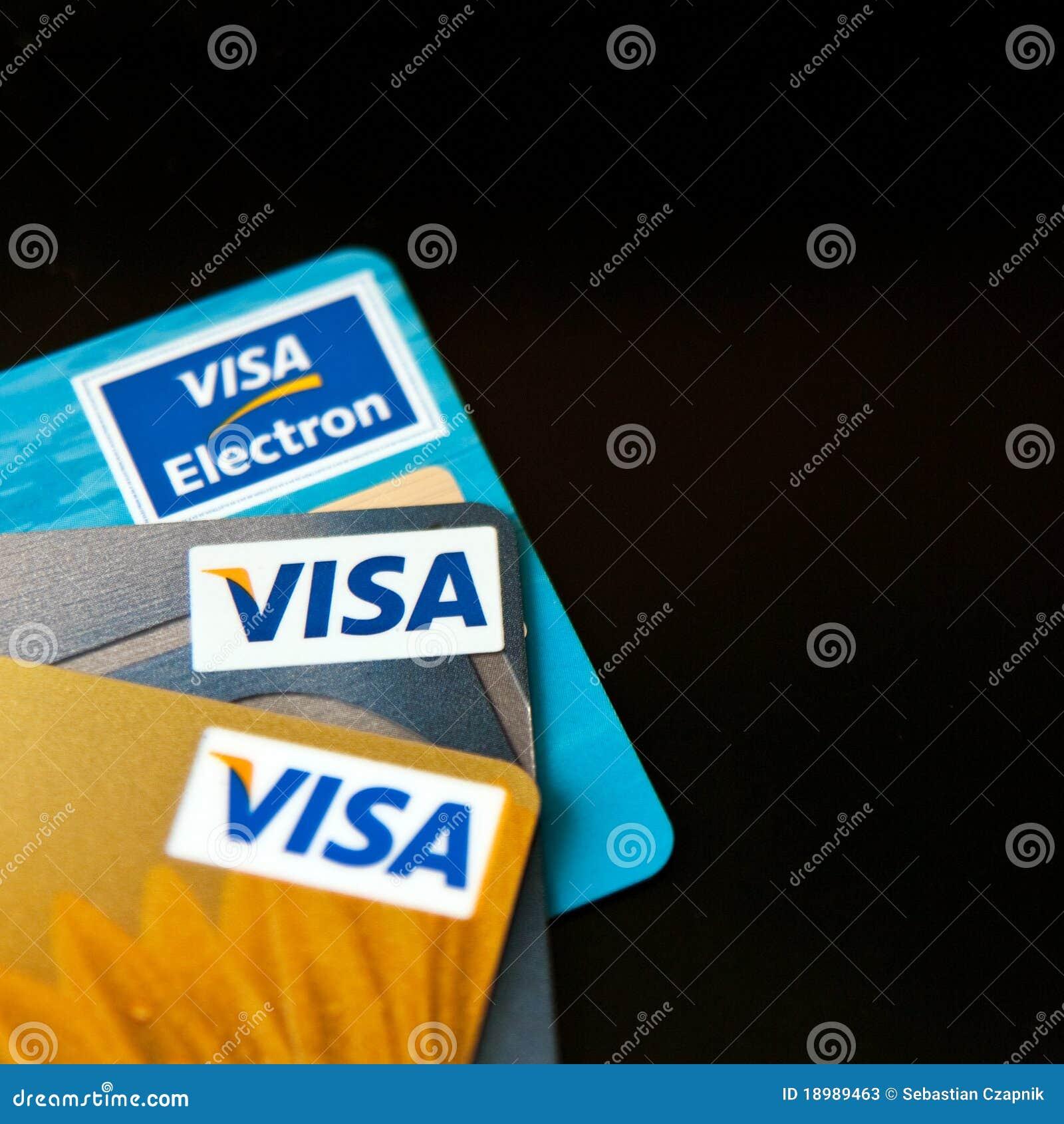 Karty kredytują wizę