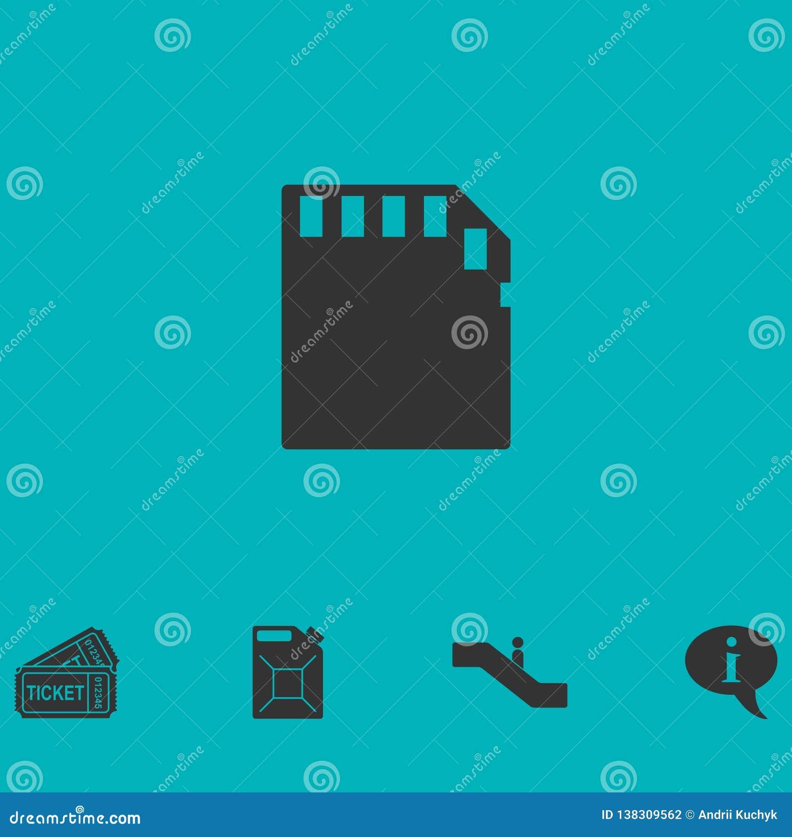Karty pamięci ikony mieszkanie