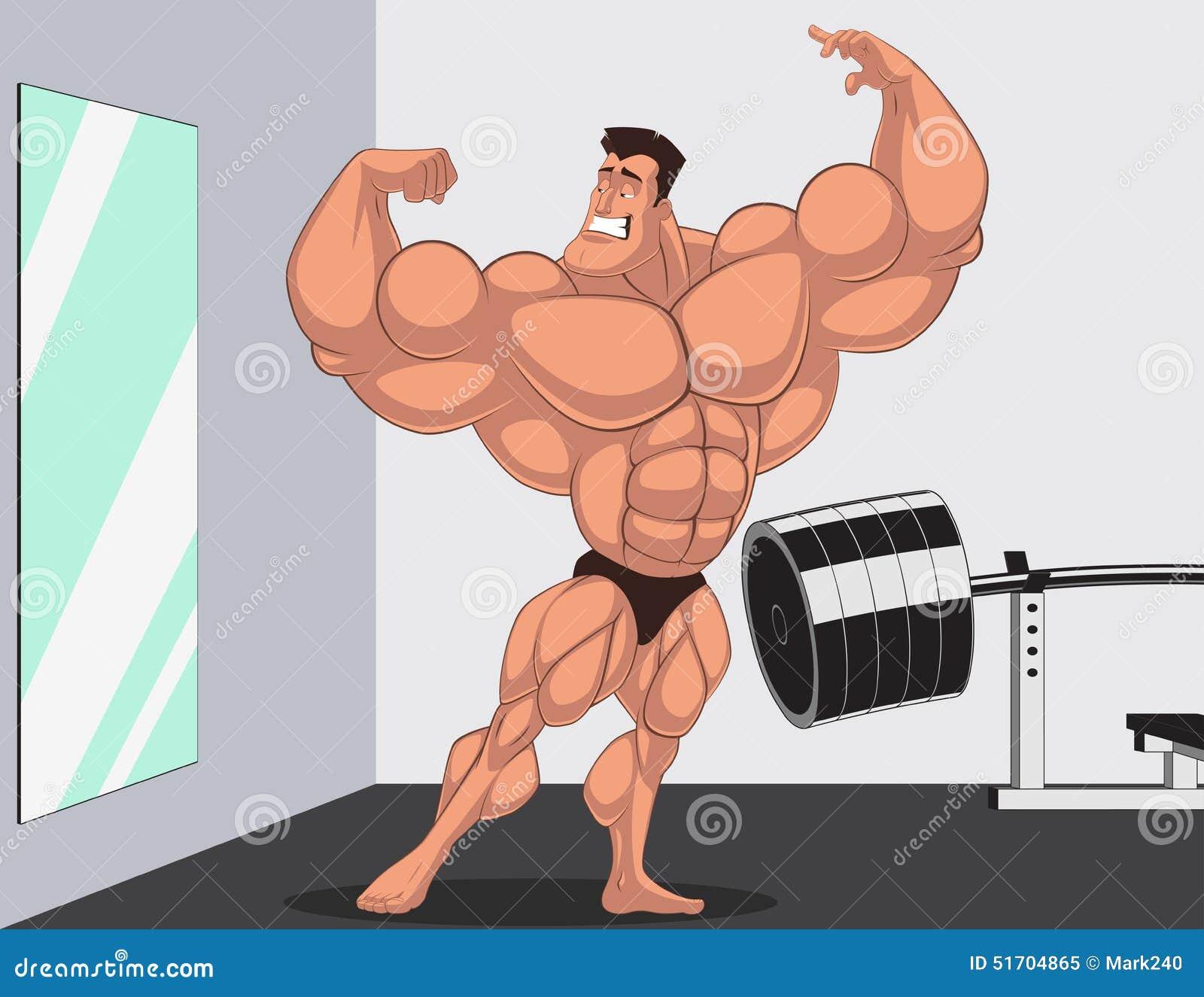 Karykatury bodybuilder