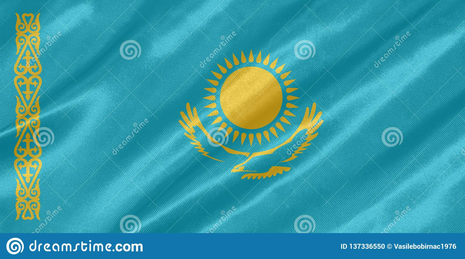 Kasakhstan flagga