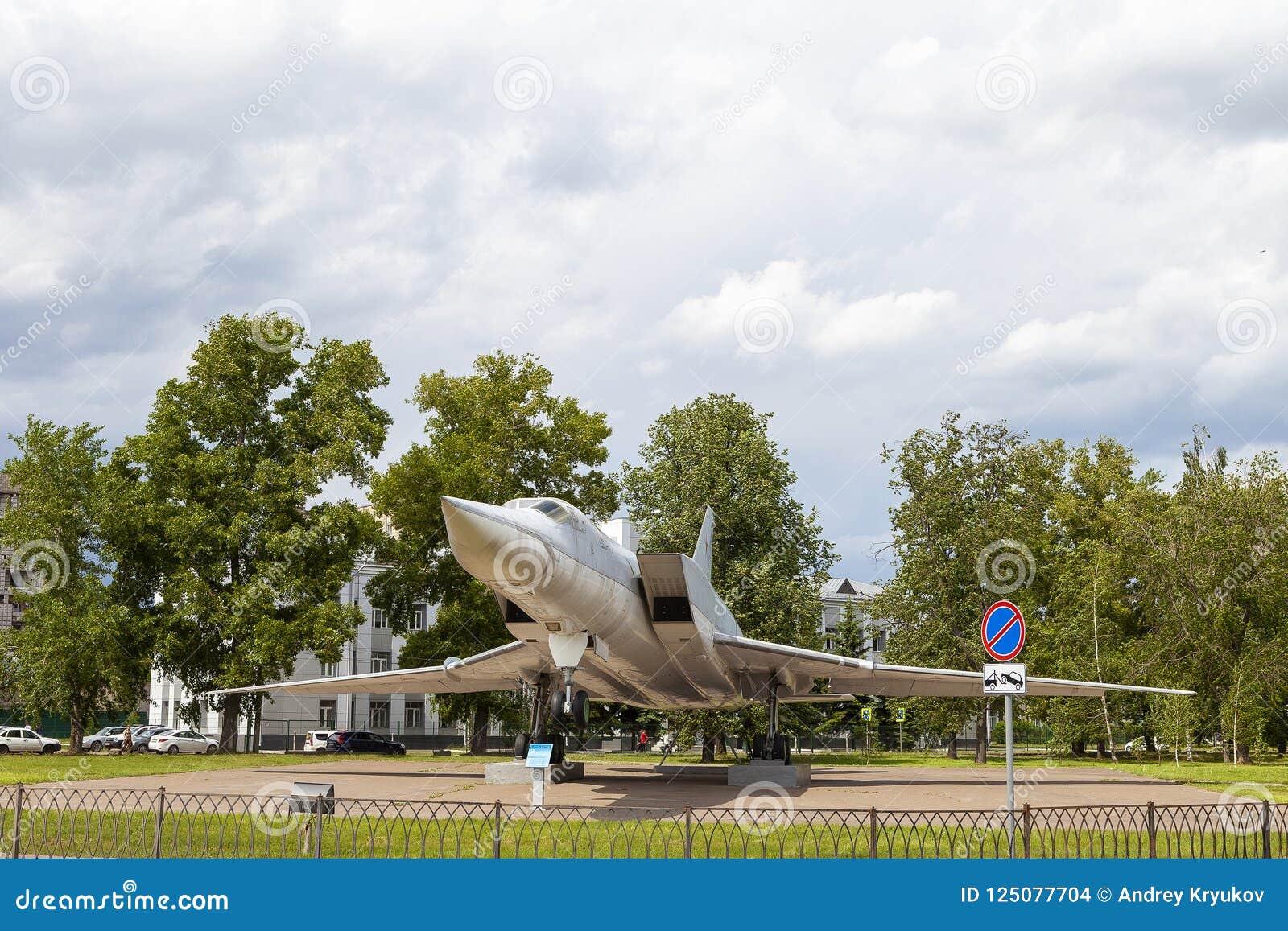 KASAN, RUSSLAND, AM 5. JUNI 2018: Das Flächemonument TU-22M3