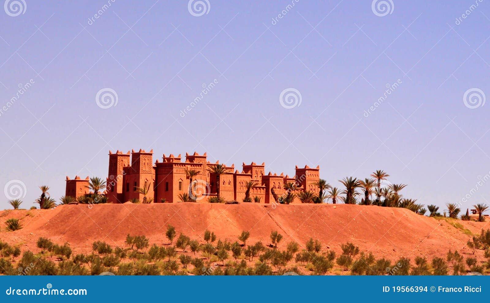 Kasbah - château au Maroc