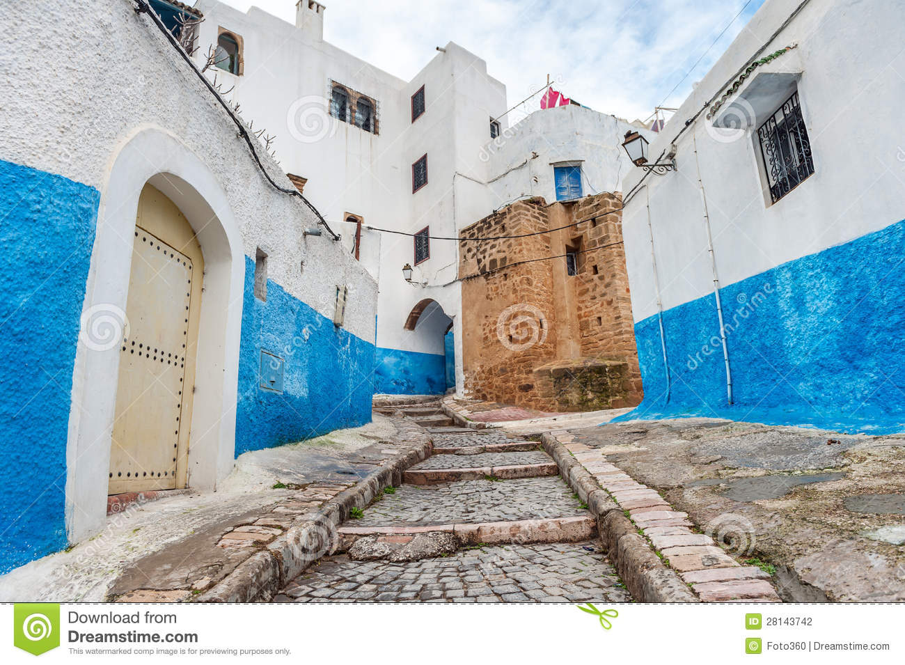 Kasbah Des Oudaias Blue Stairs In Rabat Morocco Stock Photo Image 28143742