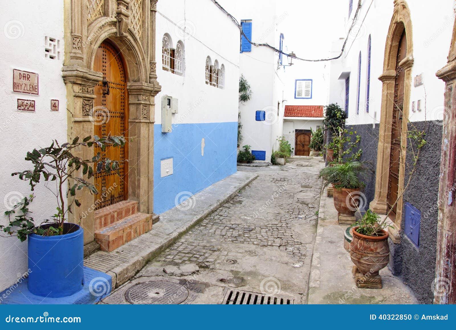 Kasbah Oudayas Rabat Le Maroc Photo Stock Image 40322850