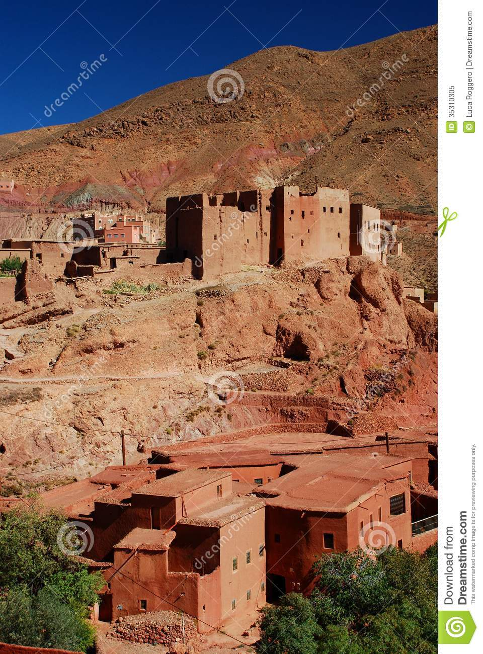 Ancient Kasbahs In The Dades Gorge by Douglas Pearson
