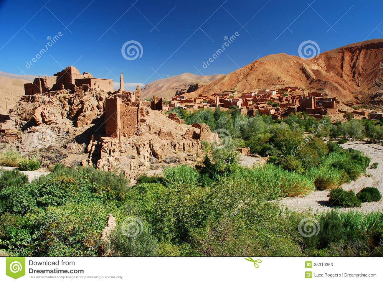 Kasbah In Ruins. Dades Gorges, Morocco Stock Photos ...