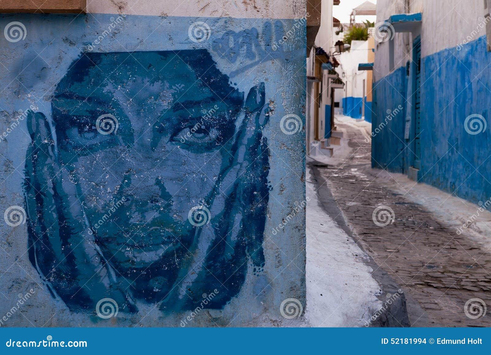 Kasbah of the udayas graffiti rabat editorial stock image for Morocco motors erie pa